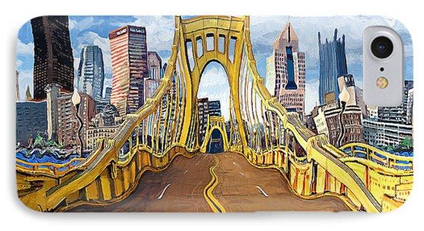 Sixth Street Bridge, Pittsburgh IPhone Case by Frank Harris
