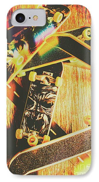 Skateboarding Tricks And Flips IPhone Case by Jorgo Photography - Wall Art Gallery