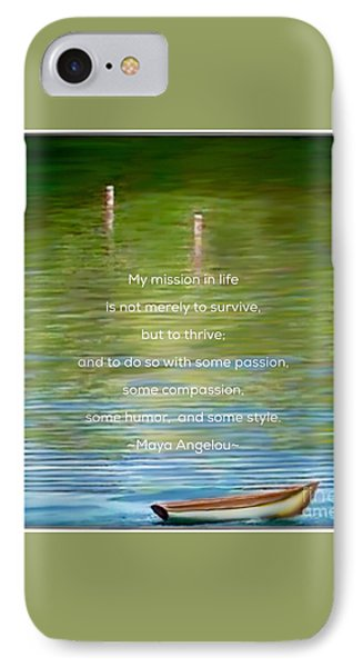 Skiff Boat Quote IPhone Case by Susan Garren