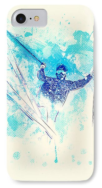 Skiing Down The Hill IPhone 7 Case by Bekare Creative