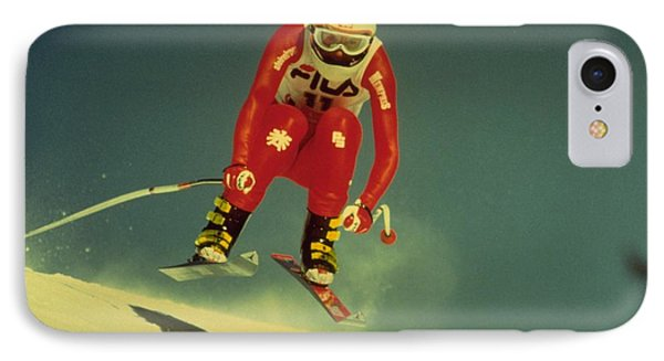 IPhone 7 Case featuring the photograph Skiing In Crans Montana by Travel Pics