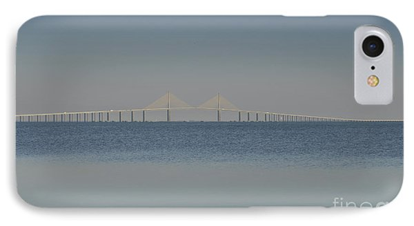 Skyway Bridge In Blue Phone Case by David Lee Thompson