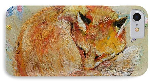 Sleeping Fox IPhone Case by Michael Creese