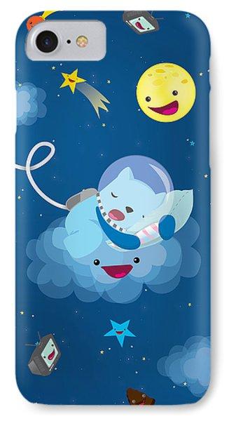 Sleepy In Space IPhone Case by Seedys