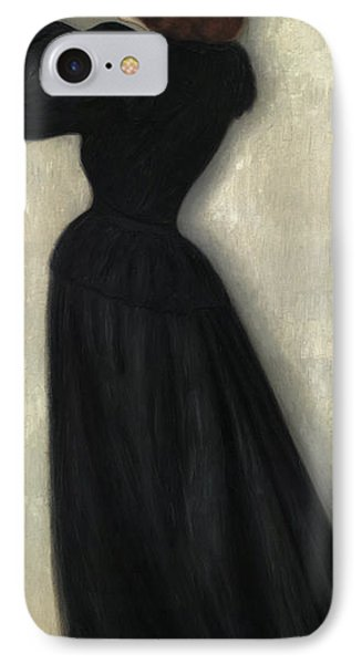 Slender Woman With Vase IPhone Case by Jozsef Rippl Ronai