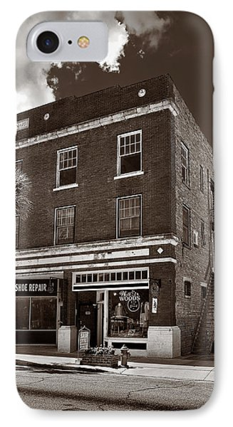 Small Town Shops - Sepia Phone Case by Christopher Holmes