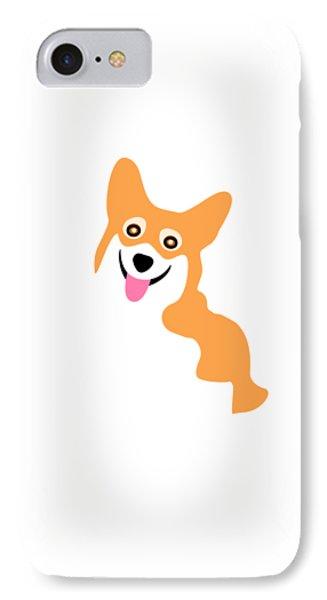 Smiling Corgi Pup IPhone Case by Antique Images