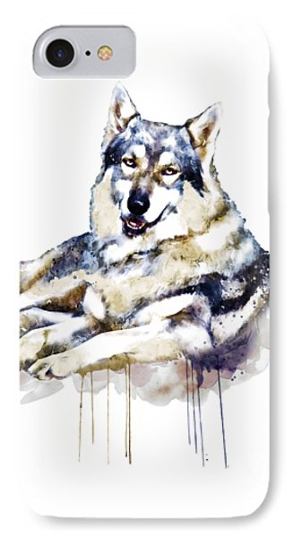 Smiling Wolf IPhone Case by Marian Voicu