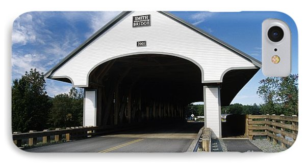 Smith Covered Bridge - Plymouth New Hampshire Usa IPhone Case by Erin Paul Donovan