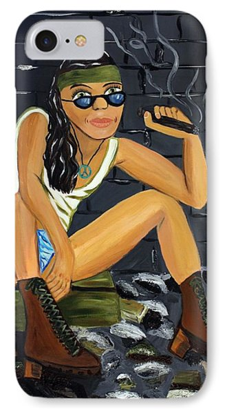 Smoke Break  Phone Case by Victoria  Johns