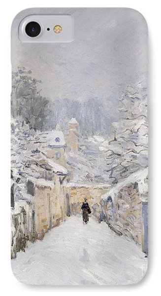 Snow At Louveciennes IPhone Case by Alfred Sisley