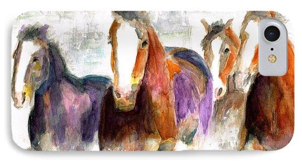 Snow Horses Phone Case by Frances Marino