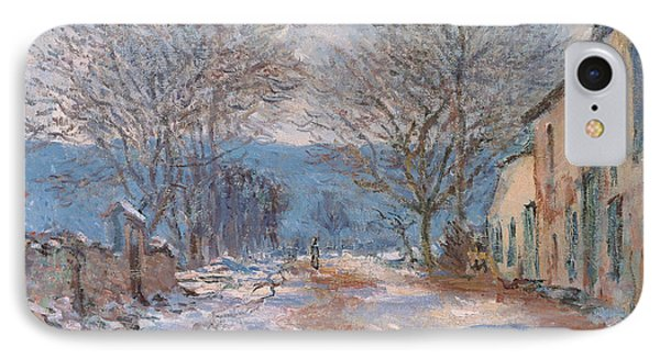 Snow In Limetz   Effet De Neige A Limetz IPhone Case by Claude Monet