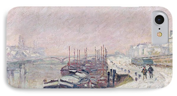 Snow In Rouen IPhone Case by Jean Baptiste Armand Guillaumin