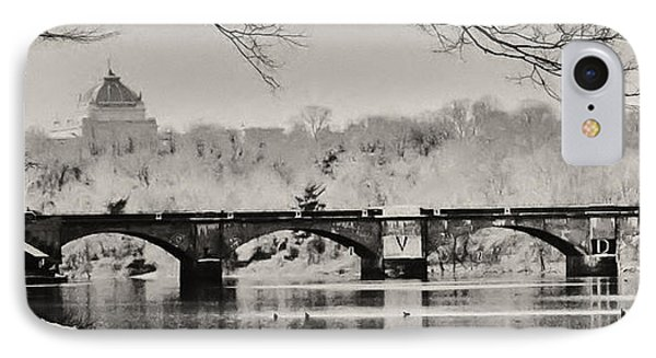 Snow On The River IPhone Case by Bill Cannon