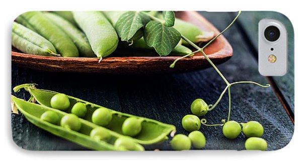Snow Peas Or Green Peas Still Life IPhone Case by Vishwanath Bhat