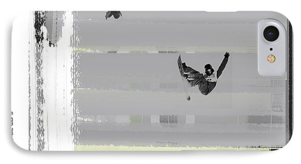 Snowboarding IPhone Case by Naxart Studio