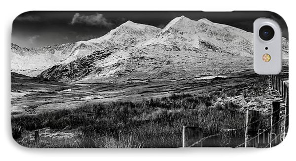 Snowdon Winter IPhone Case by Adrian Evans