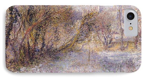 Snowy Landscape IPhone Case by Pierre Auguste Renoir