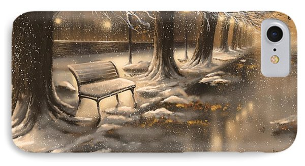Snowy Night IPhone Case by Veronica Minozzi
