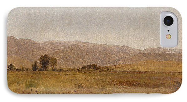 Snowy Range And Foothills From The Valley Of Valmo IPhone Case by John Frederick Kensett