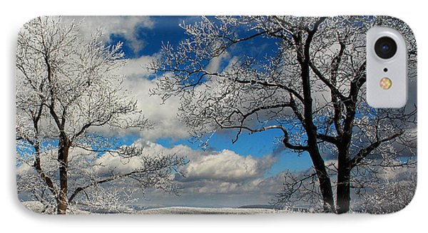 Snowy Sunday IPhone Case by Lois Bryan