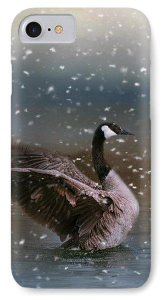 Snowy Swim IPhone 7 Case by Jai Johnson