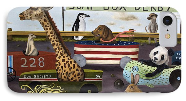 Soap Box Derby Phone Case by Leah Saulnier The Painting Maniac