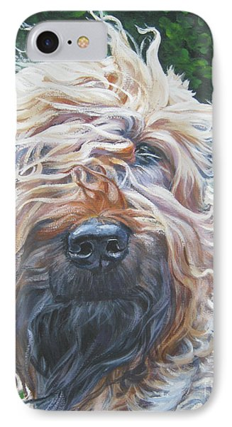 Soft Coated Wheaten Terrier IPhone Case by Lee Ann Shepard