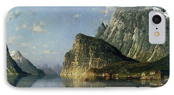 Sogne Fjord Norway  Phone Case by Adelsteen Normann