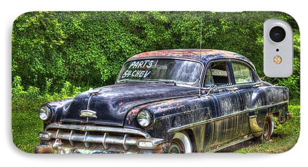 Sold For Parts 1954 Chevrolet 210 4 Door Sedan IPhone Case by Reid Callaway
