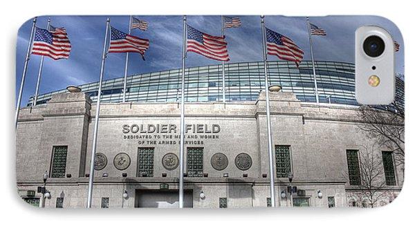 Soldier Field IPhone 7 Case by David Bearden