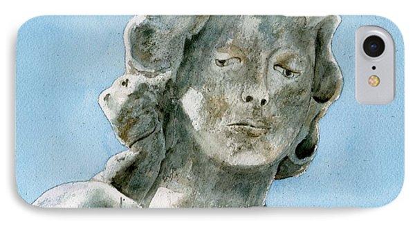 Solitude. A Cemetery Statue Phone Case by Brenda Owen