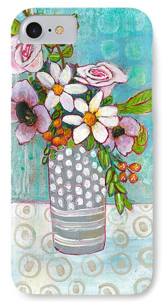 Sophia Daisy Flowers IPhone 7 Case by Blenda Studio