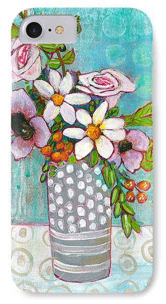 Sophia Daisy Flowers IPhone Case by Blenda Studio