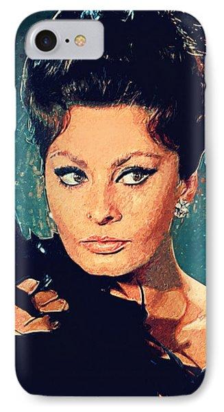 Sophia Loren IPhone Case by Taylan Apukovska
