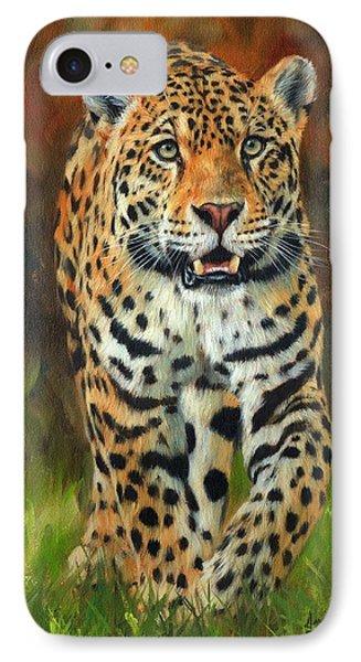 South American Jaguar IPhone Case by David Stribbling