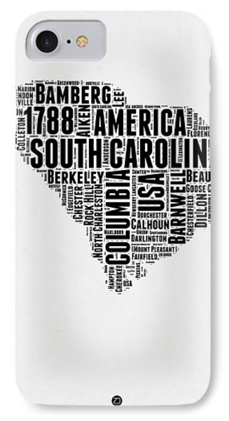 South Carolina Word Cloud 1 IPhone Case by Naxart Studio