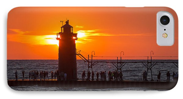 South Haven Michigan Sunset IPhone Case by Adam Romanowicz