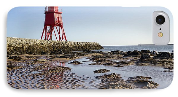South Shields Groyne IPhone Case by Nichola Denny