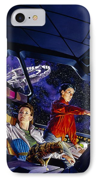 Space Explorers IPhone Case by Richard Hescox