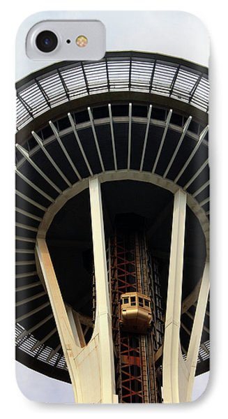 Space Needle- By Linda Woods IPhone Case by Linda Woods