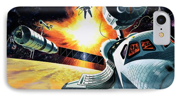 Space Shuttle IPhone Case by Wilf Hardy