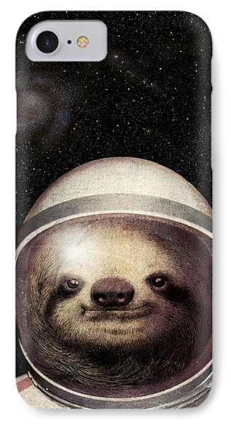 Space Sloth IPhone Case by Eric Fan