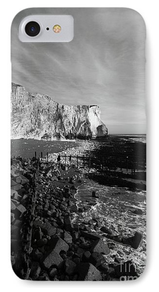 Spectacular Cliffs At Seaford Head Sussex England IPhone Case by James Brunker
