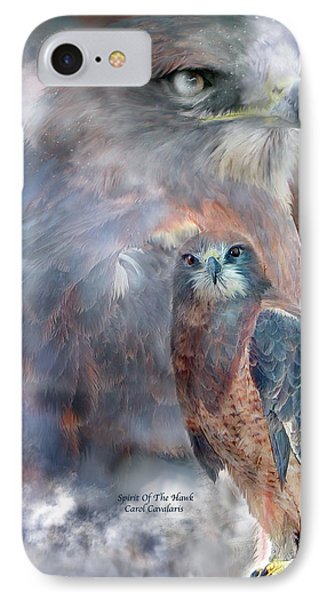 Spirit Of The Hawk IPhone Case by Carol Cavalaris
