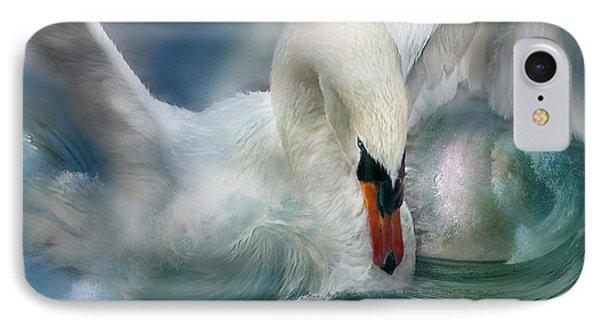 Spirit Of The Swan Phone Case by Carol Cavalaris