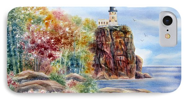 Split Rock Lighthouse Phone Case by Deborah Ronglien