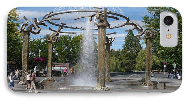Spokane Fountain Phone Case by Carol Groenen