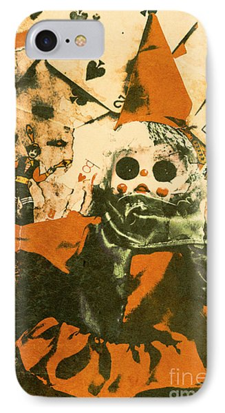 Spooky Carnival Clown Doll IPhone Case by Jorgo Photography - Wall Art Gallery